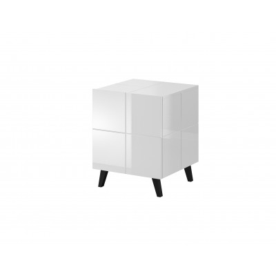 Cama bedside table REJA white gloss/white gloss