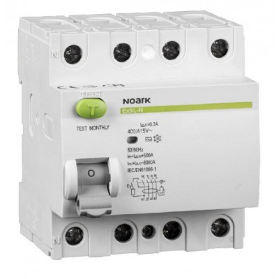 108370  Residual current circuit breakers Noark Ex9L-N 4P 40A A 300mA