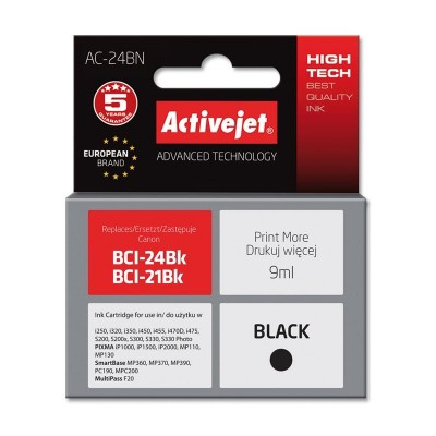 Activejet ink for Canon BCI-24Bk