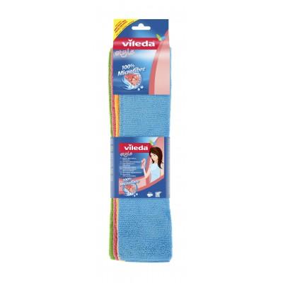 Vileda 141413 cleaning cloth Microfiber Blue,Green,Orange,Red 4 pc(s)