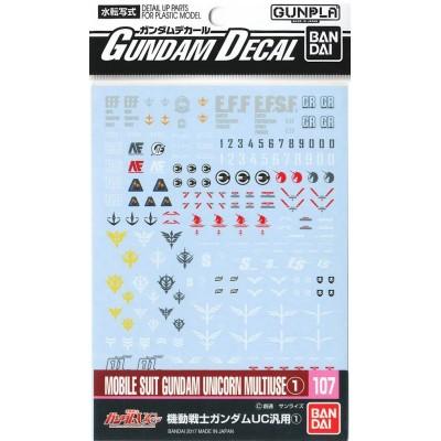 Accessory Set Gundam Unicorn BANDAI GUN83680