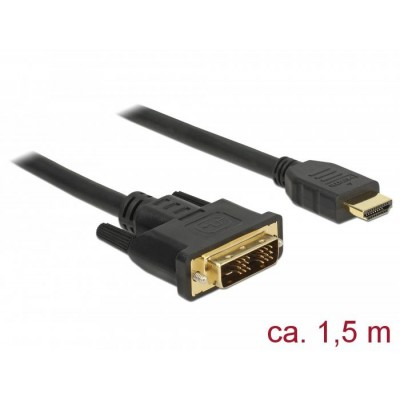 DeLOCK 85583 video cable adapter 1.5 m DVI-D HDMI Type A (Standard) Black