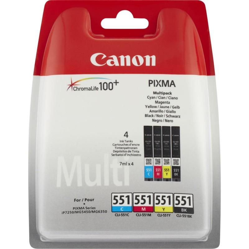 Canon CLI-551 C/M/Y/BK w/o sec Original Black,Cyan,Magenta,Yellow Multipack 4 pc(s)