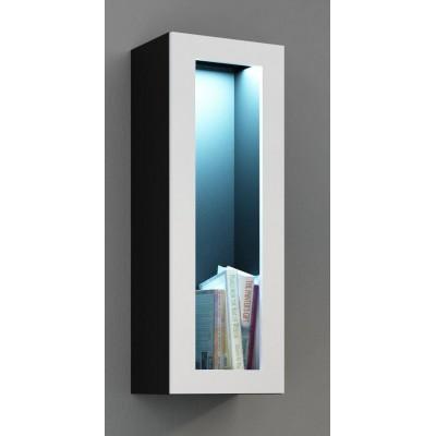 """Cama Cabinet VIGO """"90"""" glass 90/35/32 black/white gloss"""