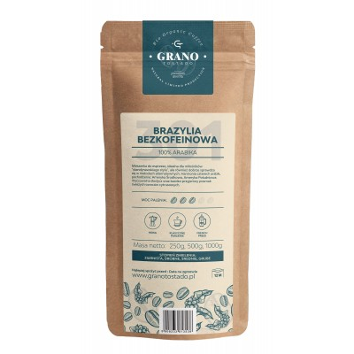 Grano Tostado Brazil Decaf Whole Bean Coffee 250 g