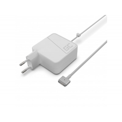 Green Cell AD48 Charger AC Adapter for Apple Macbook 45W / 14.5V 3.1A / Magsafe 2