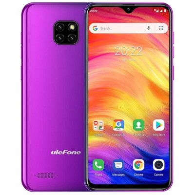 "Ulefone Note 7 15.5 cm (6.1"") Dual SIM Android 8.1 3G Micro-USB 1 GB 16 GB 3500 mAh Purple"