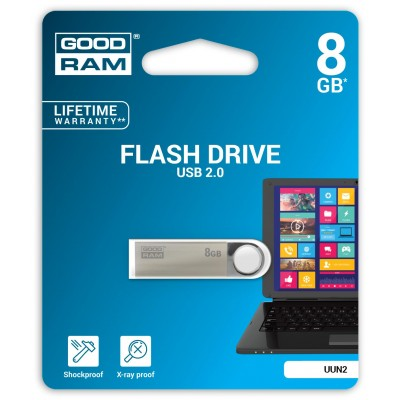 Goodram 8GB USB 2.0 USB flash drive USB Type-A Black,Silver