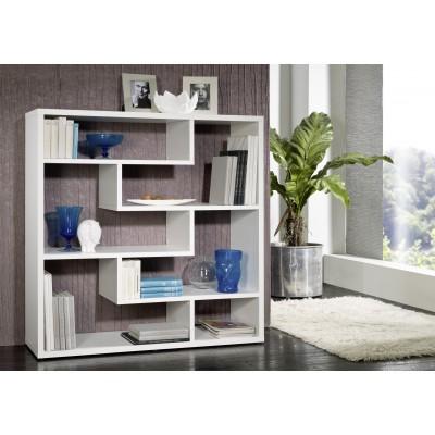 Cama bookcase QUBE white mat