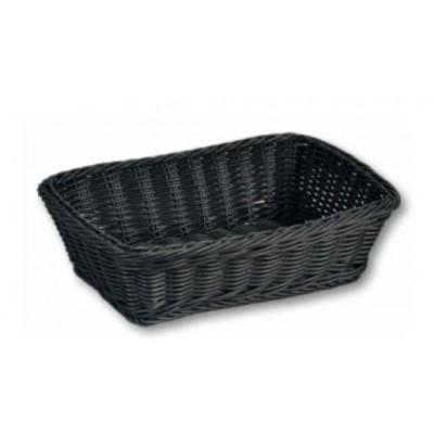 Kesper 19808 bread basket Plastic Black Rectangle