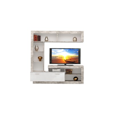 Tuckano Wall-unit 170x170x41 WARSAW atelier/white gloss