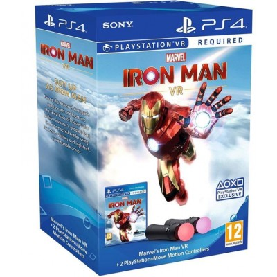 2x PS4 Move Controller + Iron Man Game