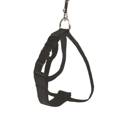 Chaba 610278 dog/cat harness L Black Metal Seat belt safety harness