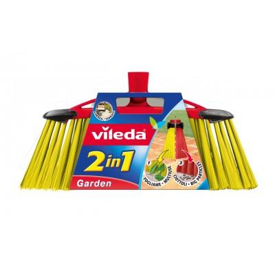 Vileda 112091 broom Outdoor Black,Red,Yellow Soft / Hard bristle Polyethylene terephthalate (PET)