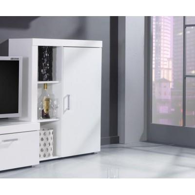 Cama bookcase SAMBA white/white gloss