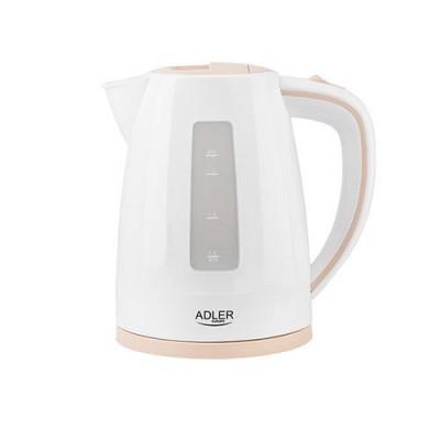 Adler AD 1264 electric kettle 1.7 L Hazelnut,White 2200 W