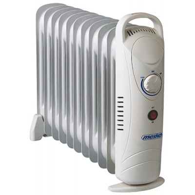 Mesko MS 7806 electric space heater Oil electric space heater Indoor White 1200 W