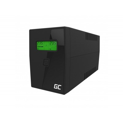 Green Cell UPS01LCD uninterruptible power supply (UPS) Line-Interactive 600 VA 360 W 2 AC outlet(s)