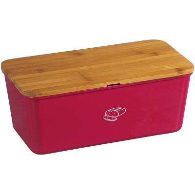Kesper 58090 bread box Rectangular Bamboo, Melamine