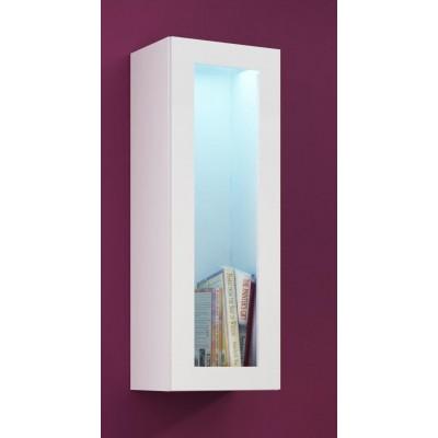 """Cama Cabinet VIGO """"90"""" glass 90/35/32 white/white gloss"""