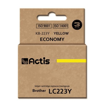 Actis KB-223Y ink cartridge for Brother, LC223Y comaptible standard 10ml yellow