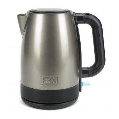 Black & Decker BXKE2201E electric kettle 1.7 L 2200 W Black, Stainless steel
