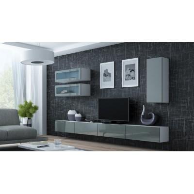 """Cama Cabinet VIGO """"90"""" glass 90/35/32 white/grey gloss"""