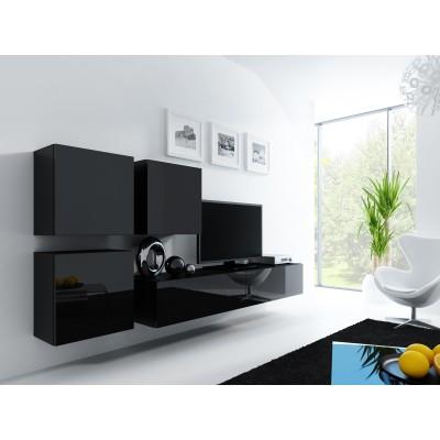 Cama Living room cabinet set VIGO 23 black/black gloss