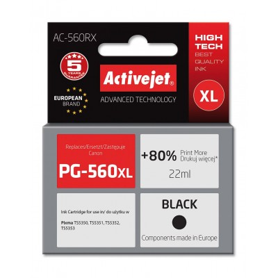 Activejet AC-560RX ink for Canon, replaces Canon PG-560XL, black