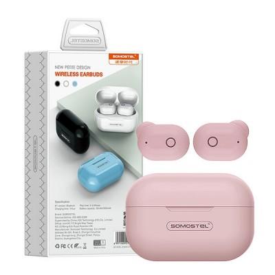 BLUETOOTH HEADPHONES SOMOSTEL EARBUDS PINK J58 TWS