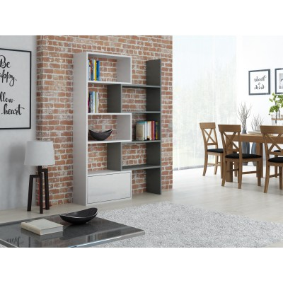 Cama bookcase PACO white/grey