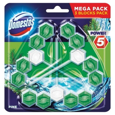 Domestos Power 5 Disinfecting cleaner Solid Pine