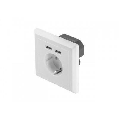 Lanberg AC-WS01-USB2-F socket/socket set