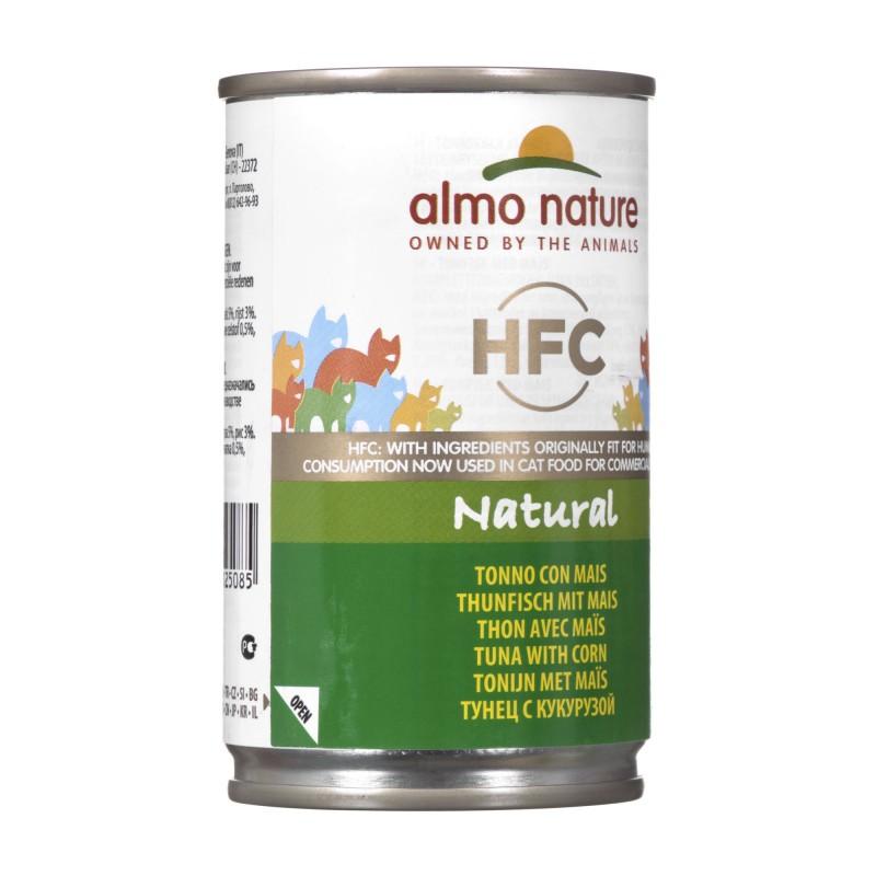 ALMO NATURE HFC Natural Tuńczyk z kukurydzą - mokra karma dla kota - puszka 140g