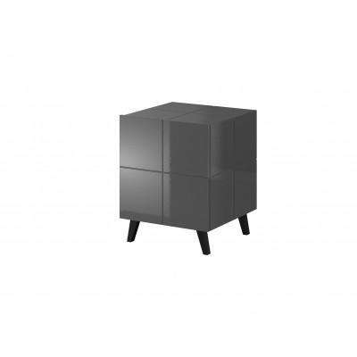 Cama bedside table REJA graphite grey gloss/graphite grey gloss