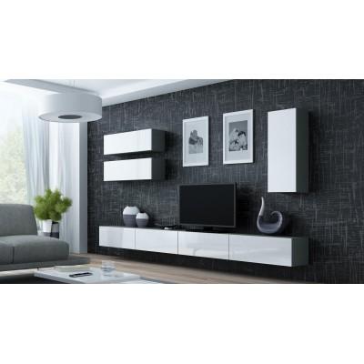 "Cama Cabinet VIGO ""90"" full 90/35/32 grey/white gloss"
