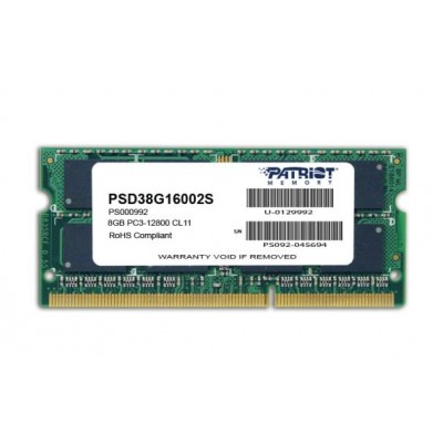 Patriot Memory 8GB PC3-12800 memory module DDR3 1600 MHz