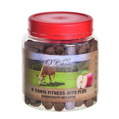 O'CANIS Fitnes Bits plus 300g, słoik PET Przysmak trenerski: wołowina z jabłkiem