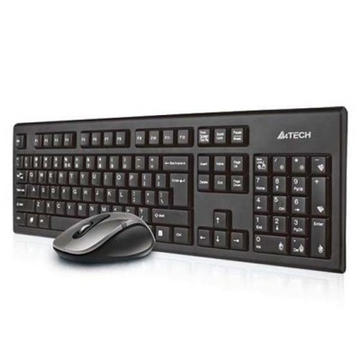 A4Tech 7100N desktop keyboard RF Wireless QWERTY English Black