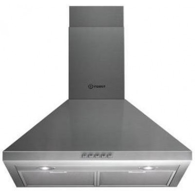 Indesit IHP 6.5 C M IX cooker hood Wall-mounted Stainless steel 451 m³/h
