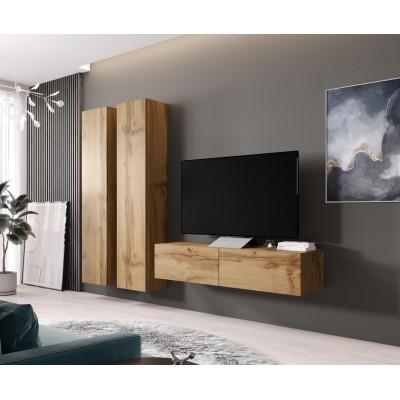 Cama Living room cabinet set VIGO 9 wotan oak/wotan oak gloss