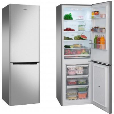 Amica FK2695.2FTX fridge-freezer Freestanding Stainless steel A+