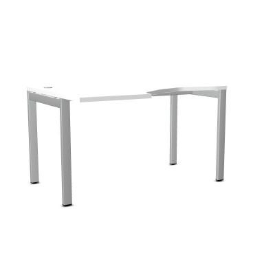 Biurko ART BSA26 LEWE 137x100xH.76 biały/metal