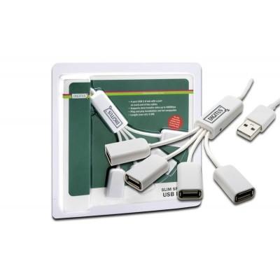 Digitus DA-70216 interface hub 480 Mbit/s White