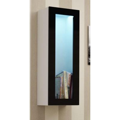 """Cama Cabinet VIGO """"90"""" glass 90/35/32 white/black gloss"""