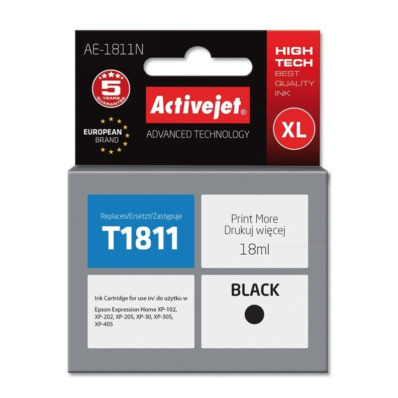 Activejet ink for Epson T1811