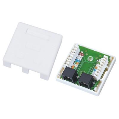 Alantec GN002 wire connector 2xRJ45 White