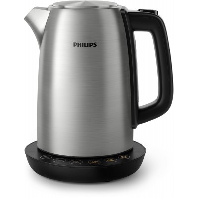 Philips Avance Collection HD9359/90 electric kettle 1.7 L 2200 W Black, Metallic