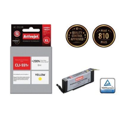 Activejet ink for Canon CLI-551Y