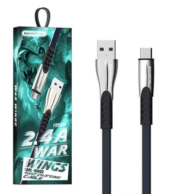 SOMOSTEL SMS-BW02 USB cable 1 m USB 2.0 USB A USB C Black